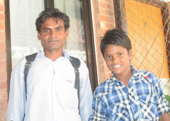 Santosh and father