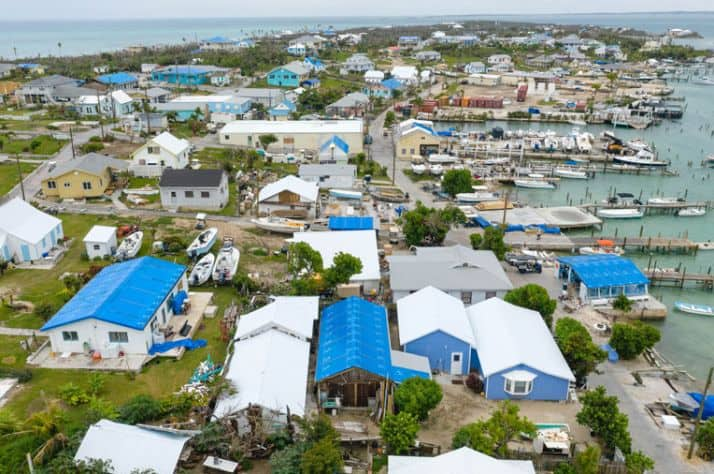 Samaritan's Purse staff and volunteers covered roofs with blue tarp and removed more than 20,000 cubic yards of debris from Man-O-War Cay.