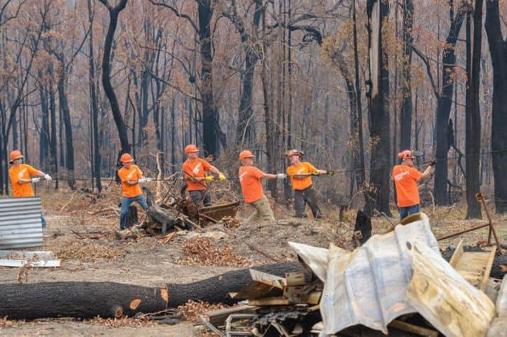 Samaritan's Purse staff and volunteers are offering relief to Australian homeowners devastated by the wildfires.