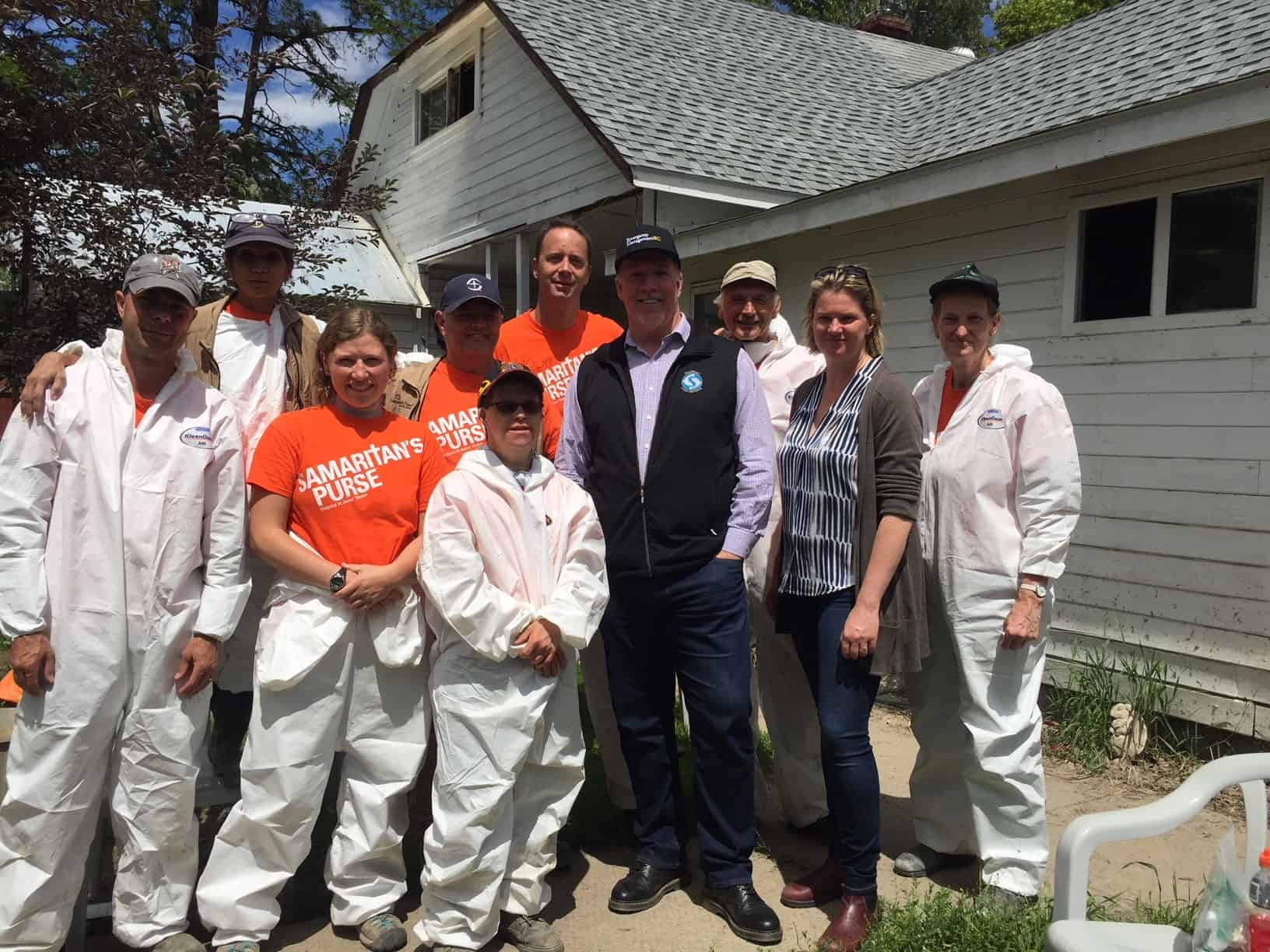 B.C. Premier John Horgan visited one of the homes we were working at and expressed his appreciation to Samaritan's Purse and to the volunteers.