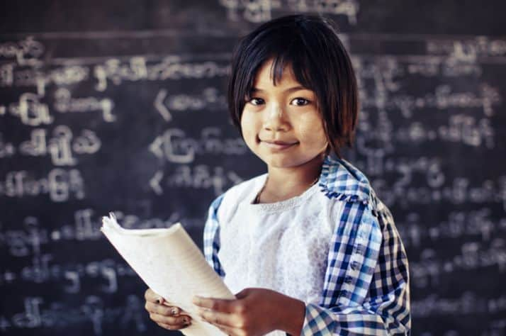 Children in Myanmar are more likely to stay in school when they are healthy.