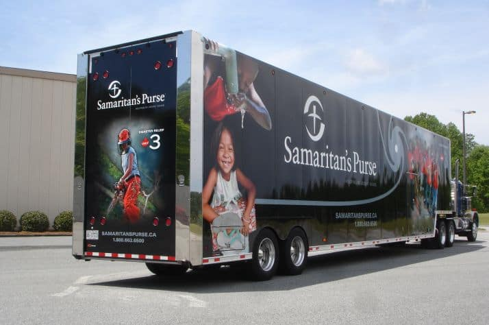 Samaritan's Purse's Disaster Relief Units are fully equipped with essential disaster recovery equipment.