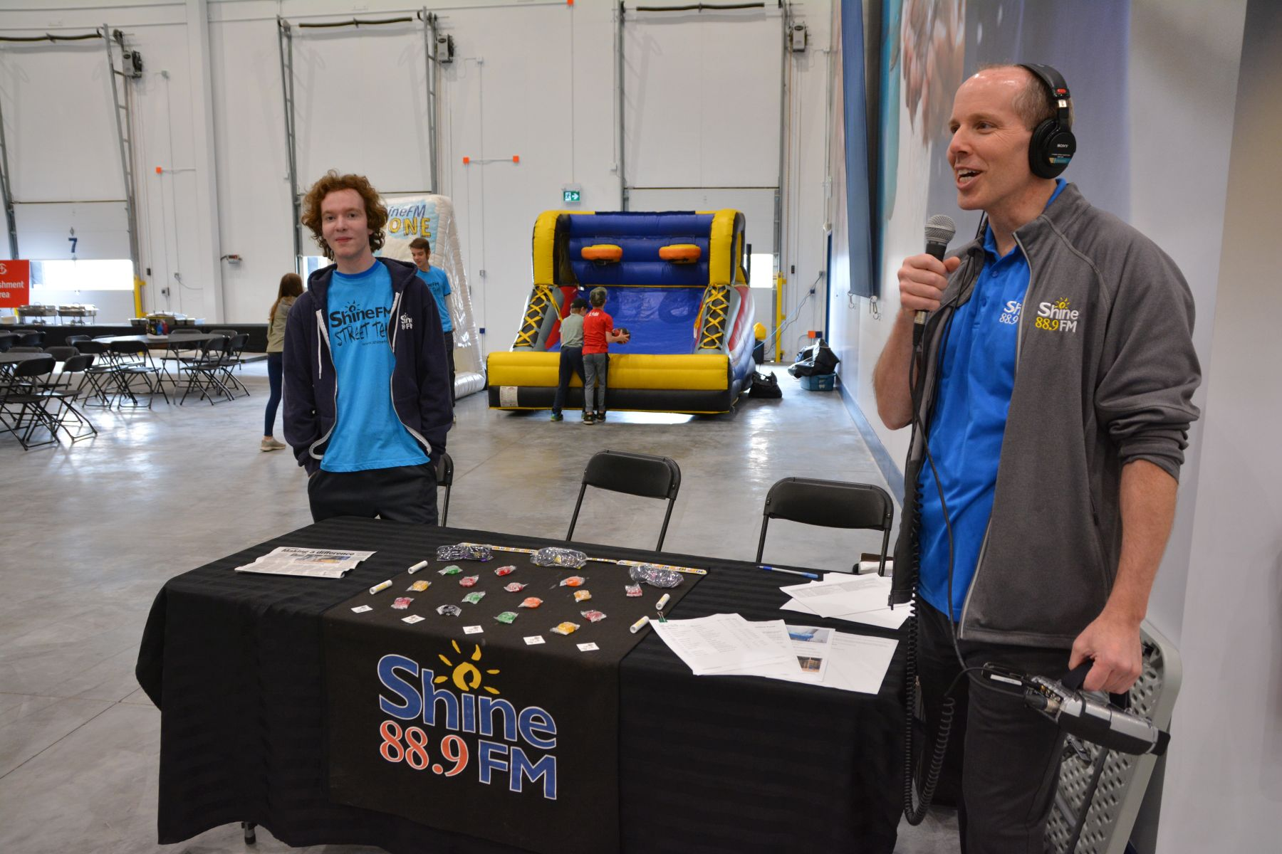 "Calgary Christian radio station Shine FM did a three-hour ""remote"" broadcast at the warehouse on June 8."