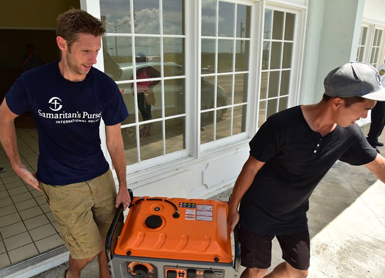 Generators provide a critical power source to hard-hit areas.