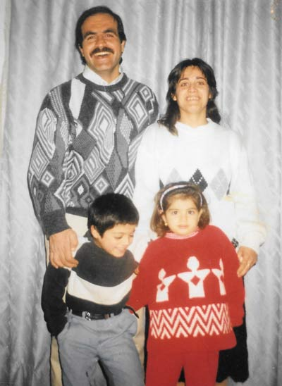 Dania and her parents and brother