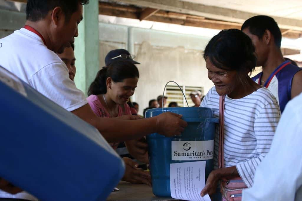 Survivors of Tropical Storm Tembin were grateful for relief supplies provided by Samaritan's Purse for affected parts of the Philippines.