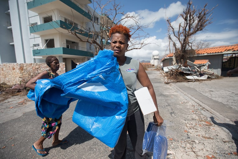 Samaritan's Purse is on the ground in St. Martin distributing tarps, blankets, and hygiene kits among thousands of families.