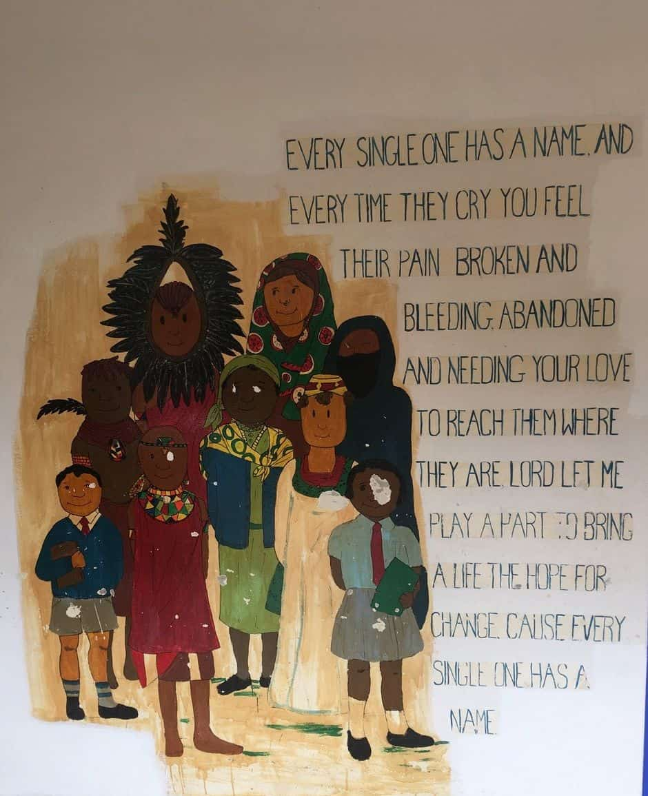 This poem on a wall of Tenwek Hospital reminded Dr. Horne that even though he could not help every child in need , every single child he did help had great significance to God.