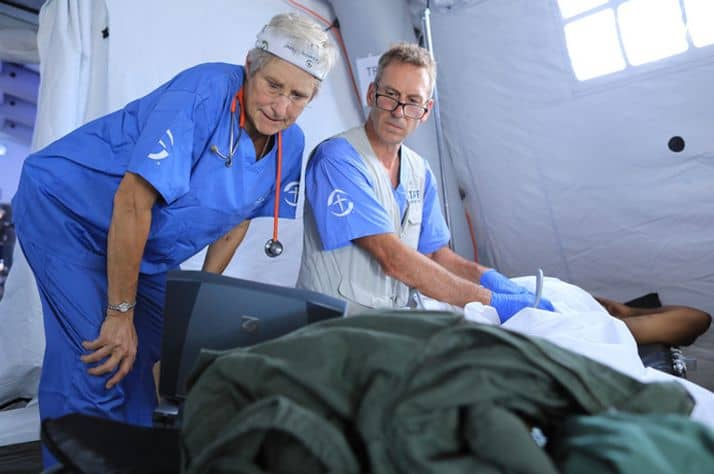 The Emergency Field Hospital is up and running in the Bahamas.