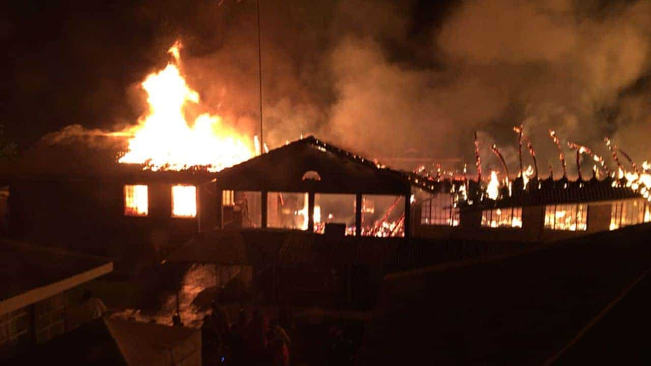Fire destroyed part of Tenwek Hospital on Friday, Feb. 9.