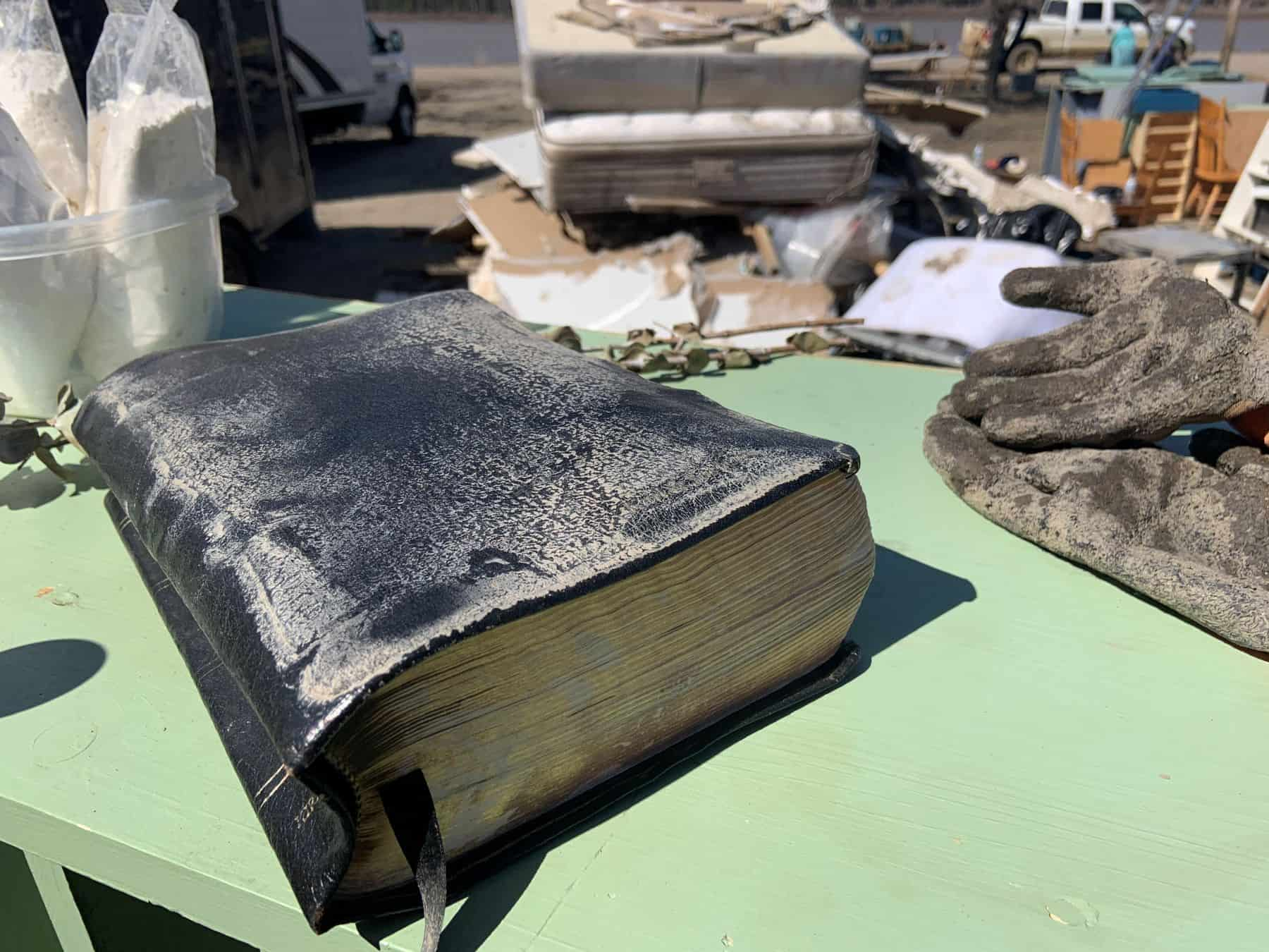 A Bible was found among the flood-damaged items in Fort Vermilion.