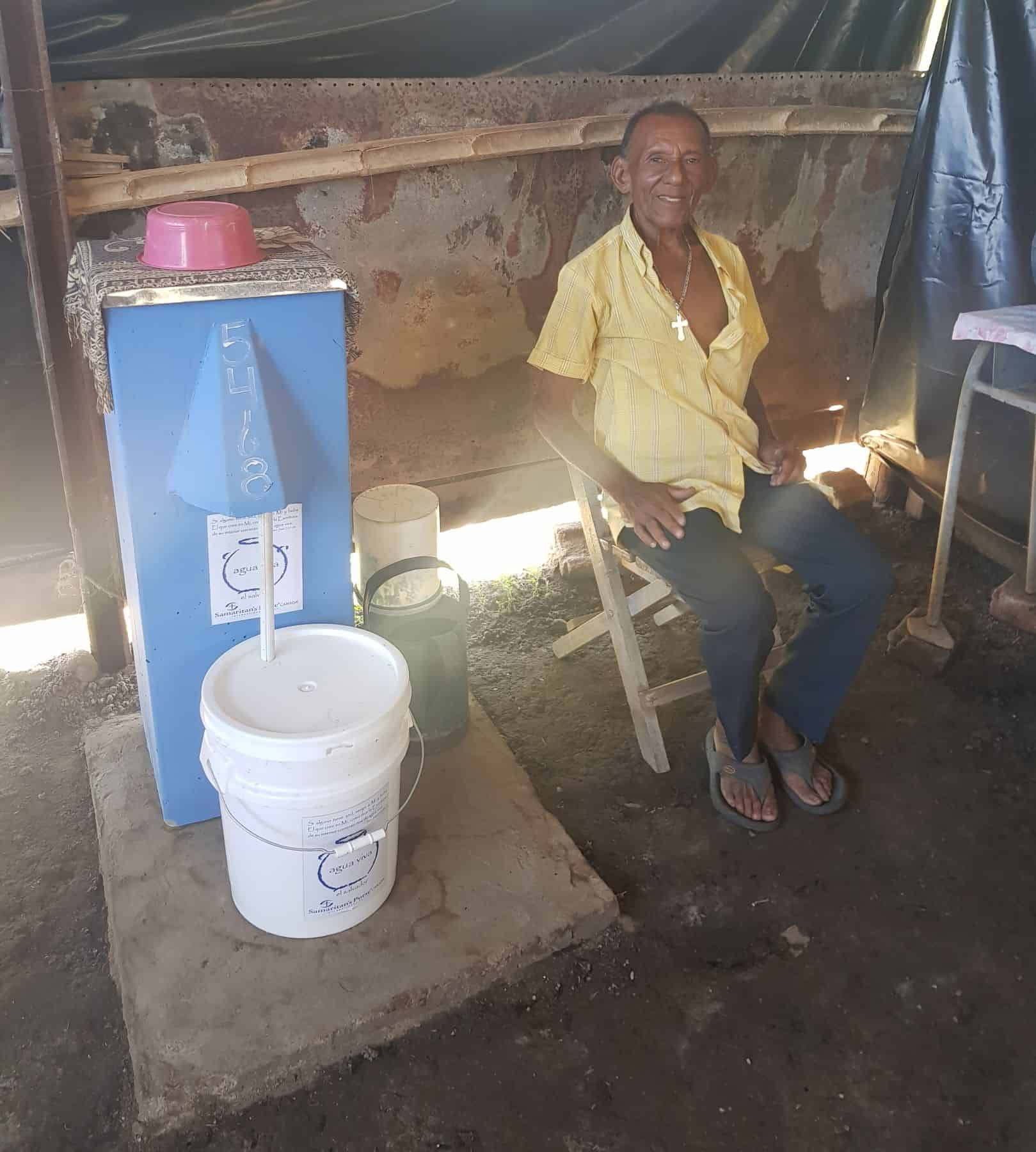 Seventy-eight-year-old Francisco Ayala used to suffer from painful and debilitating stomach ailments living alone in his small village in El Salvador. He now attributes his good health to the BioSand Water Filter.
