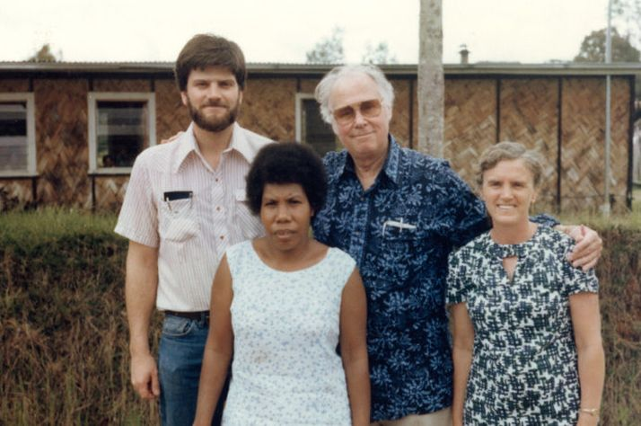 Franklin Graham and Bob Pierce went to Papua New Guinea during their 1975 vision trip around Asia.