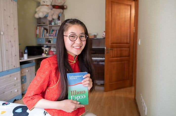 Dariya is thankful for the Bible she received when she graduated from The Greatest Journey, a 12-lesson discipleship course for those children who have received a shoebox gift.