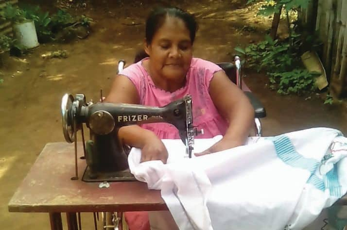 Guadalupe learned sewing skills through a Samaritan's Purse job training program in Nicaragua. Those skills have enabled her to start repairing clothes for people in her village and earn an income to provide for her basic needs. She is also participating in church discipleship classes.