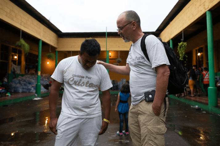Samaritan's Purse staff are on the ground praying and encouraging families.