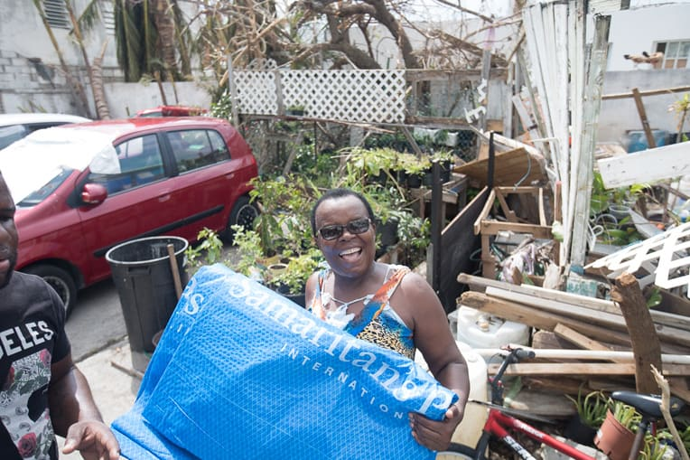 She was glad to receive relief from Samaritan's Purse.