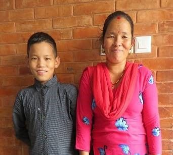 Hari with his mother after recovering from a successful surgery.