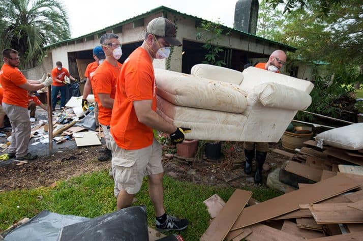 Samaritan's Purse volunteers are busy at work in hard-hit Santa Fe, Texas. More help is needed for Hurricane Harvey cleanup.