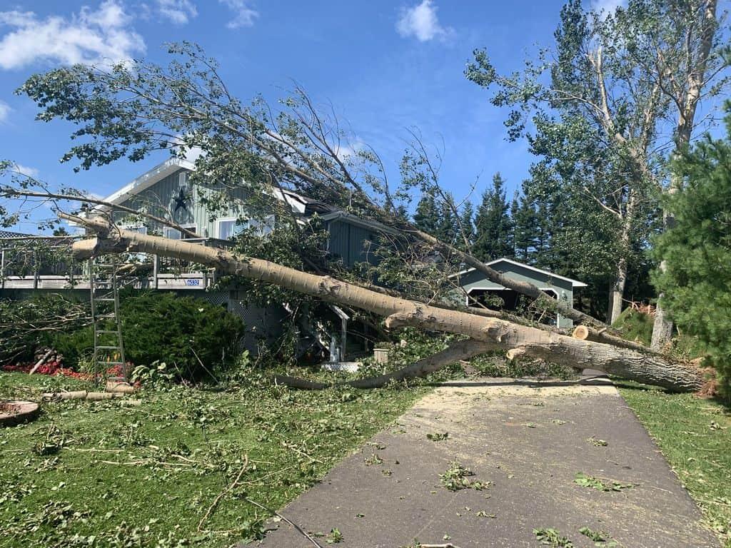 Hurricane Dorian damage in PEI