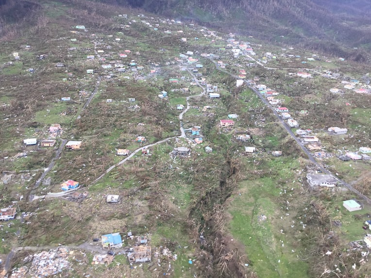 Dominica was devastated by category 5 Hurricane Maria.