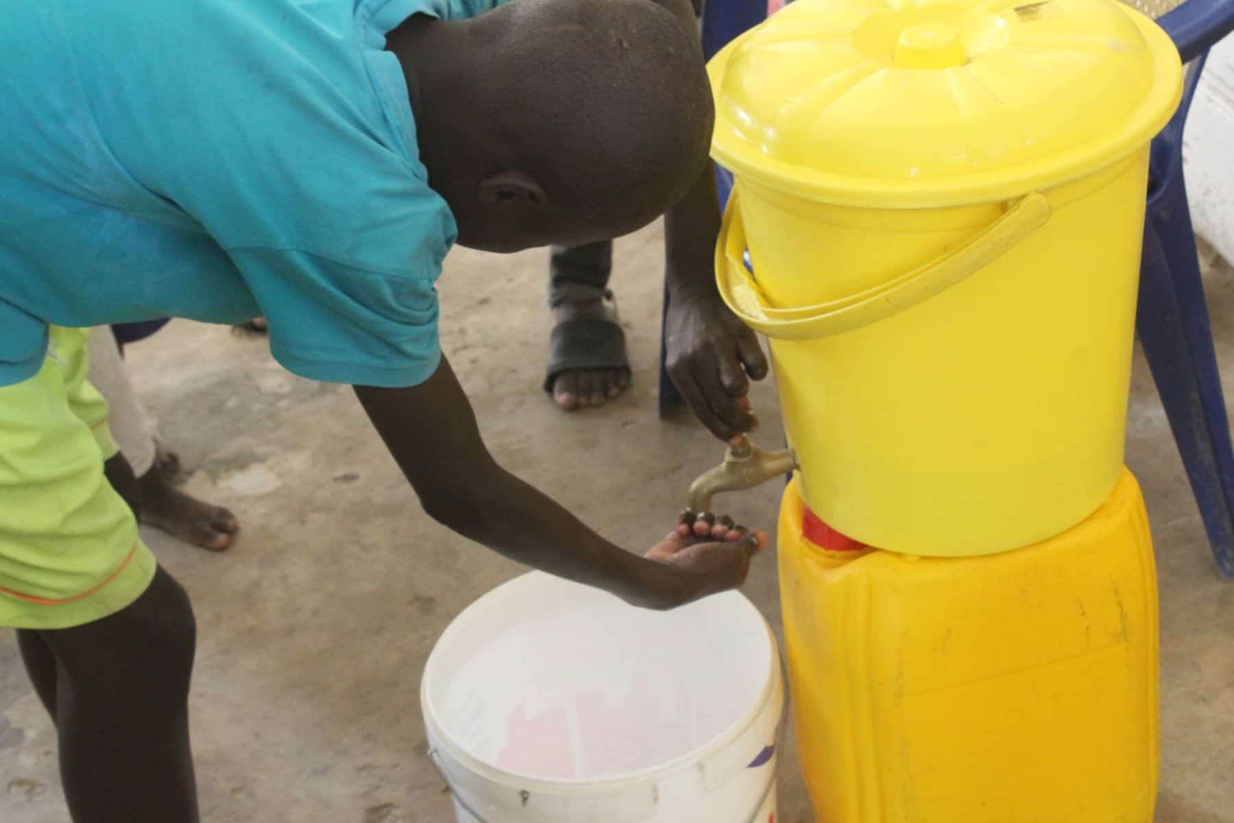 Our partners make sure the boys have masks, handwashing stations, soap, and sanitizer to guard against COVID-19.