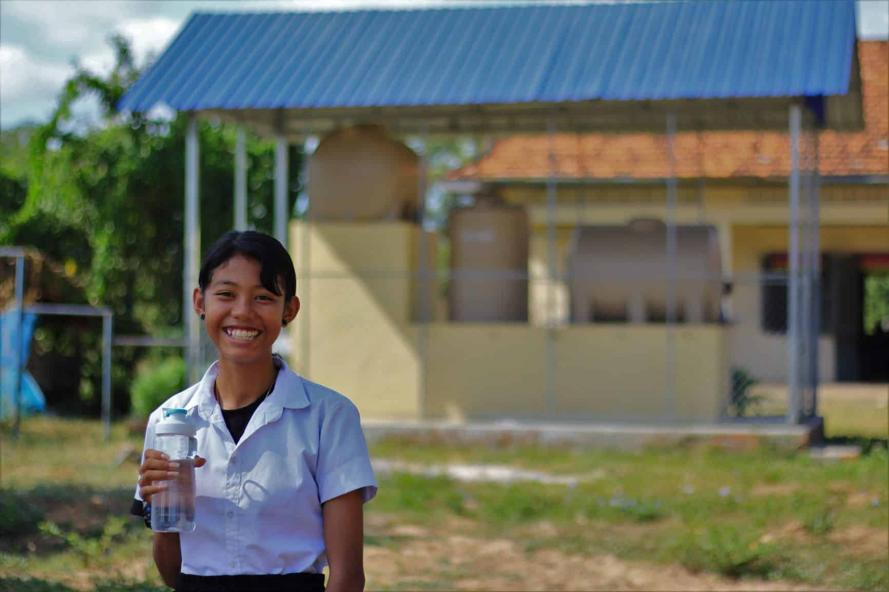 A school-sized BioSand Water Filter provides safe water for more than 300 students every day. Since the first filter built in Cambodia in 2011, donors like you have made it possible to install 371 across the country.