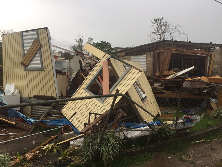 Hurricane Maria destroyed many homes in Morovis.