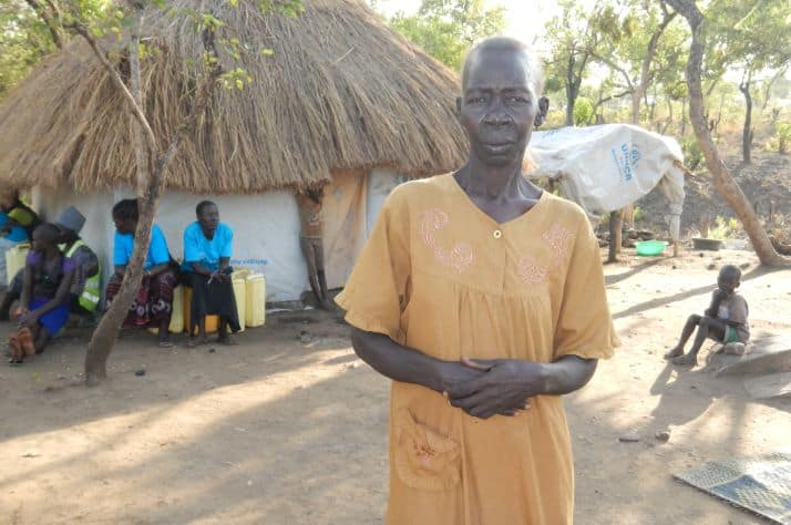 Jane Janaba, a widow from South Sudan, is now living at the Bidibidi Refugee Settlement in Uganda.