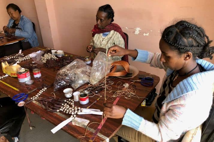 Vocational training, such as jewelry making, is just one of the skills offered to women who want to leave prostitution.