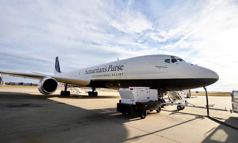 On Dec. 7 our DC-8 departed from Greensboro, North Carolina, to deliver medical equipment and supplies to Bangladesh.
