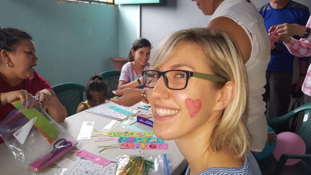 Garry Krushel's daughter Lindsay on their trip to El Salvador with OCC. (Supplied)