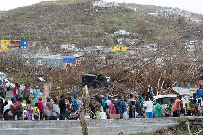 Thousands of people have been displaced in the Caribbean islands hard-hit by hurricanes Irma and Maria.