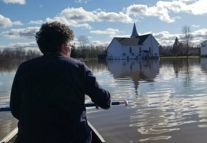 The Maugerville Baptist Church in New Brunswick was severely flooded in 2018 and 2019.