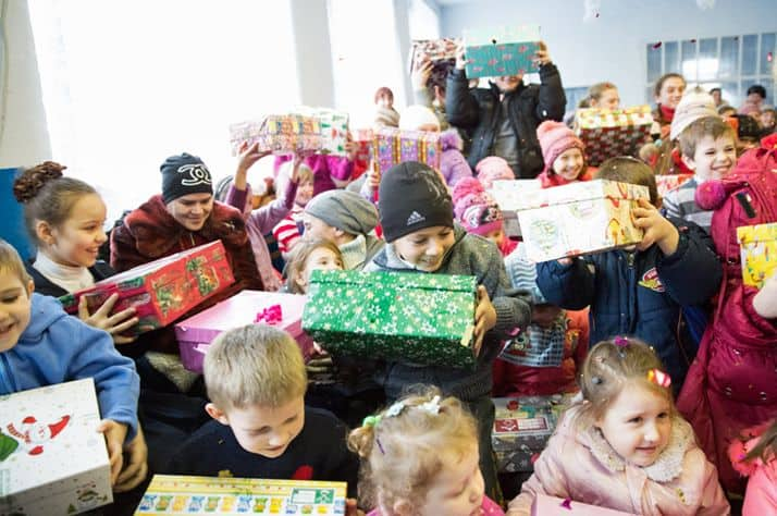 Children in Moldova (another eastern European country) receive shoebox gifts