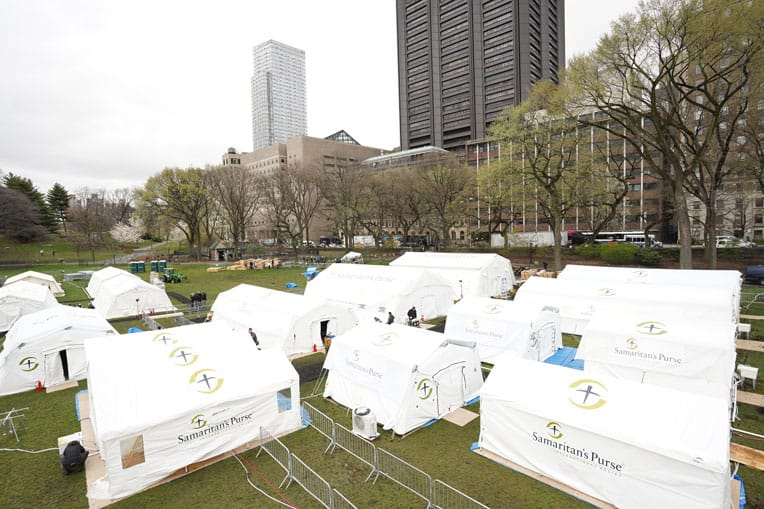 Our hospital was set up in Central Park.