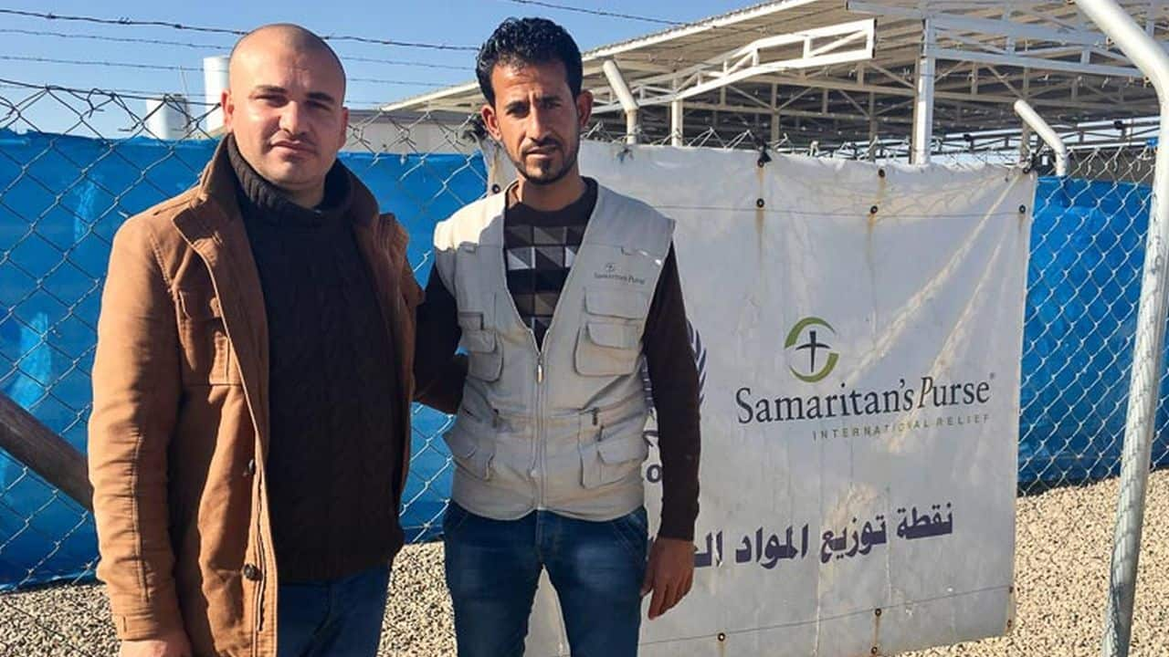 Salim (right), who works as a guard for Samaritan's Purse in Iraq, has learned to forgive ISIS through our Healing Wounds of Trauma parenting classes.