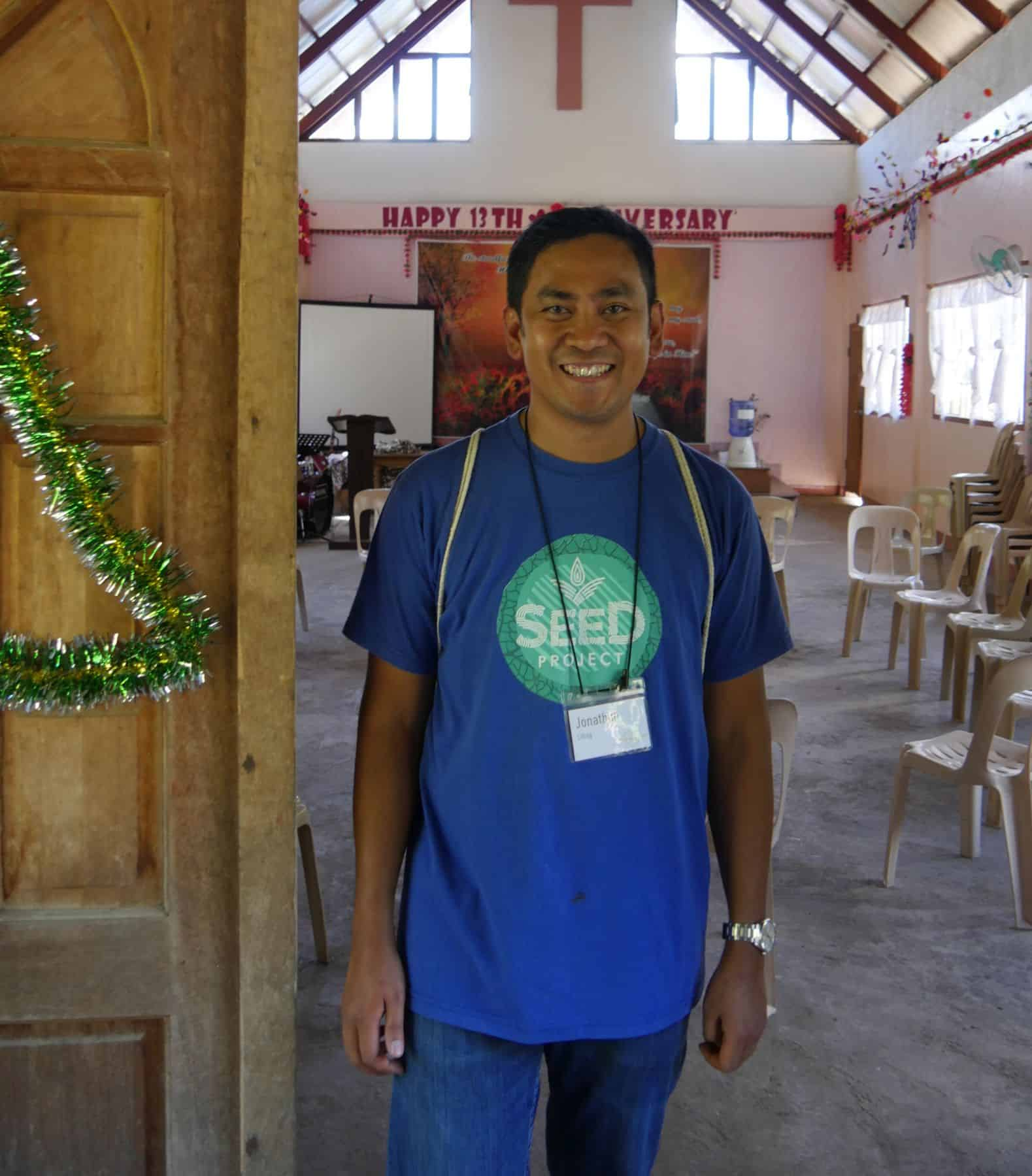 Pastor Jonathon Libag, one of our partners whose church-based agricultural project provides food, training, and spiritual support to dozens of families.