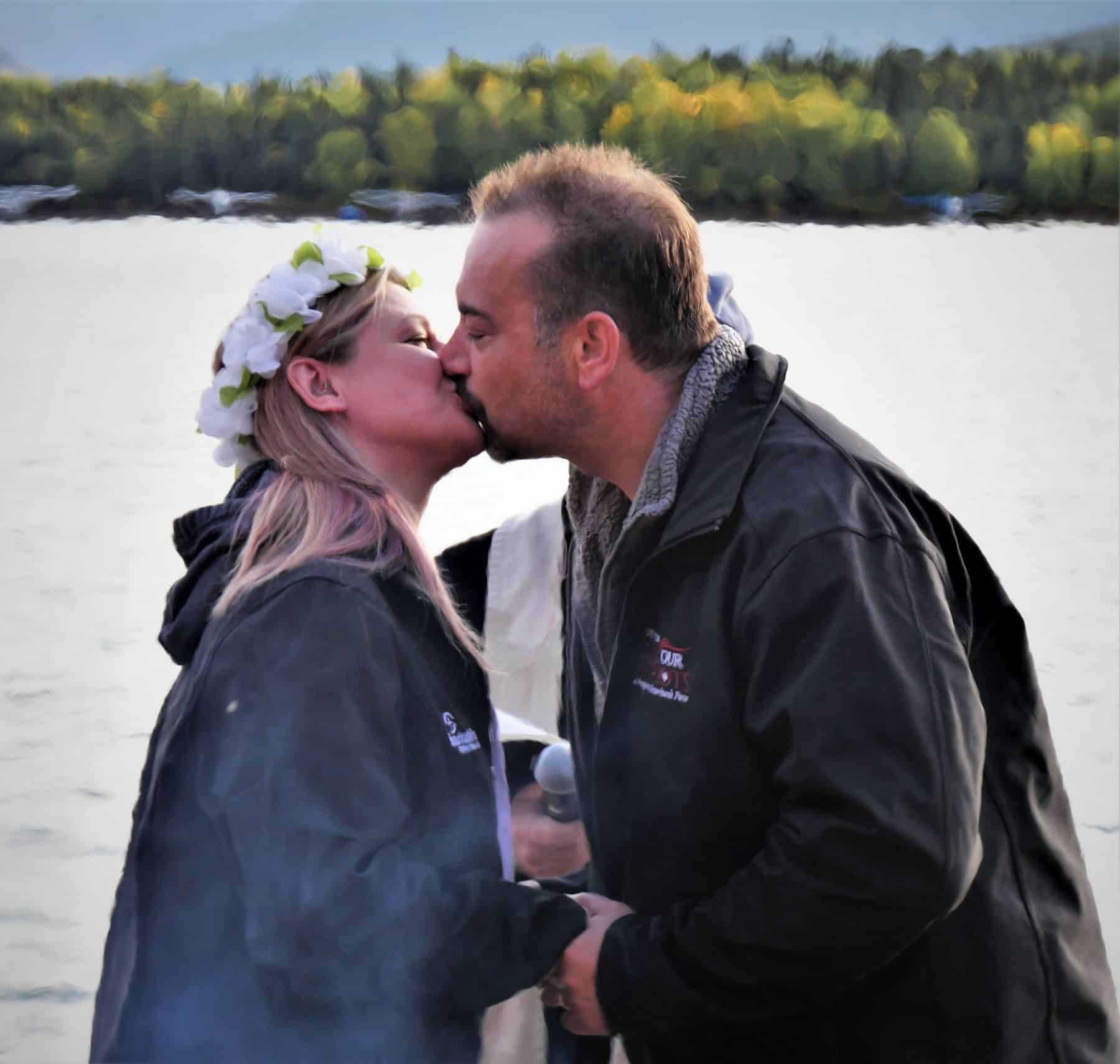 Two Canadian couples, including Patrick and Jennifer, renewed their wedding vows, pledging a new life with each other and with God in their marriage.