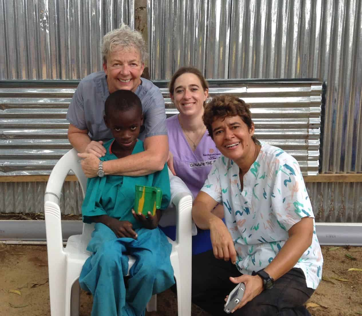 Canadian nurse Dorothy McEachern (back, left) also served with Samaritan's Purse in the Ebola crisis in Liberia in 2014.