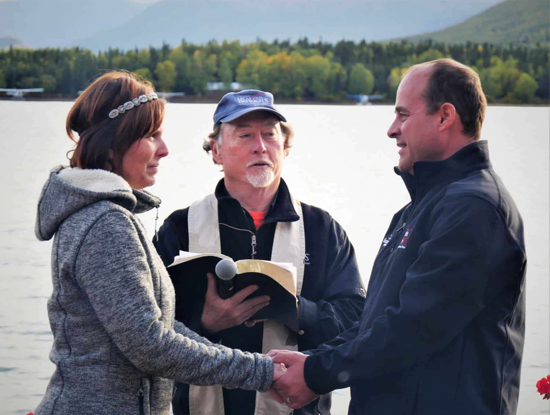 Pierre and Ethel renewed their wedding vows at the end of the week at Operation Heal Our Patriots. Later that morning they were both baptized after giving their lives to Christ earlier in the week.