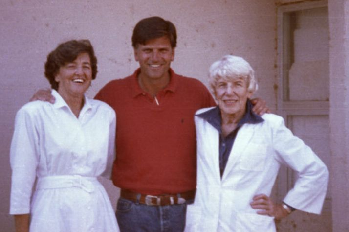 Franklin Graham with missionaries Aileen Coleman and Dr. Eleanor Soltau.