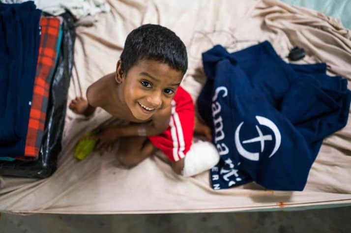 Syfed was treated at our partner hospital Memorial Christian Hospital in Bangladesh following a car accident.