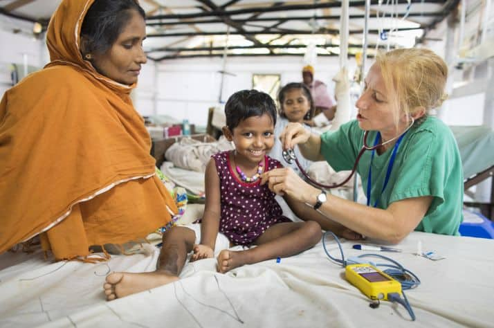 Samaritan's Purse is providing medical care to Rohingya refugees.