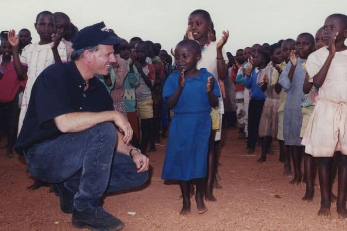 Samaritan's Purse President Franklin Graham greets children in Rwanda where we cared for hundreds of orphans whose families were killed during the genocide.
