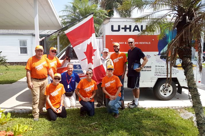 Canadian volunteers with disaster relief experience helped Louisiana hurricane victims and led teams of American volunteers who cleaned up damaged properties and prepared houses for repair.
