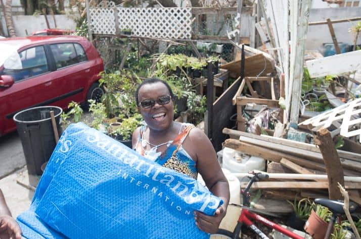 A small-scale distribution occurred on Sunday in St. Martin.