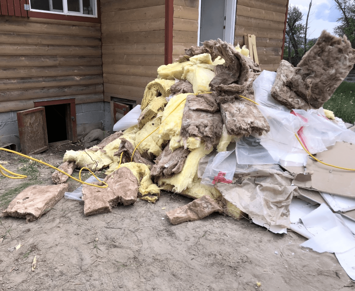 "Samaritan's Purse volunteers helped ""mud out"" waterlogged homes, remove damaged possessions, and strip away soaked drywall, insulation, and flooring, all at no charge to grateful homeowners."