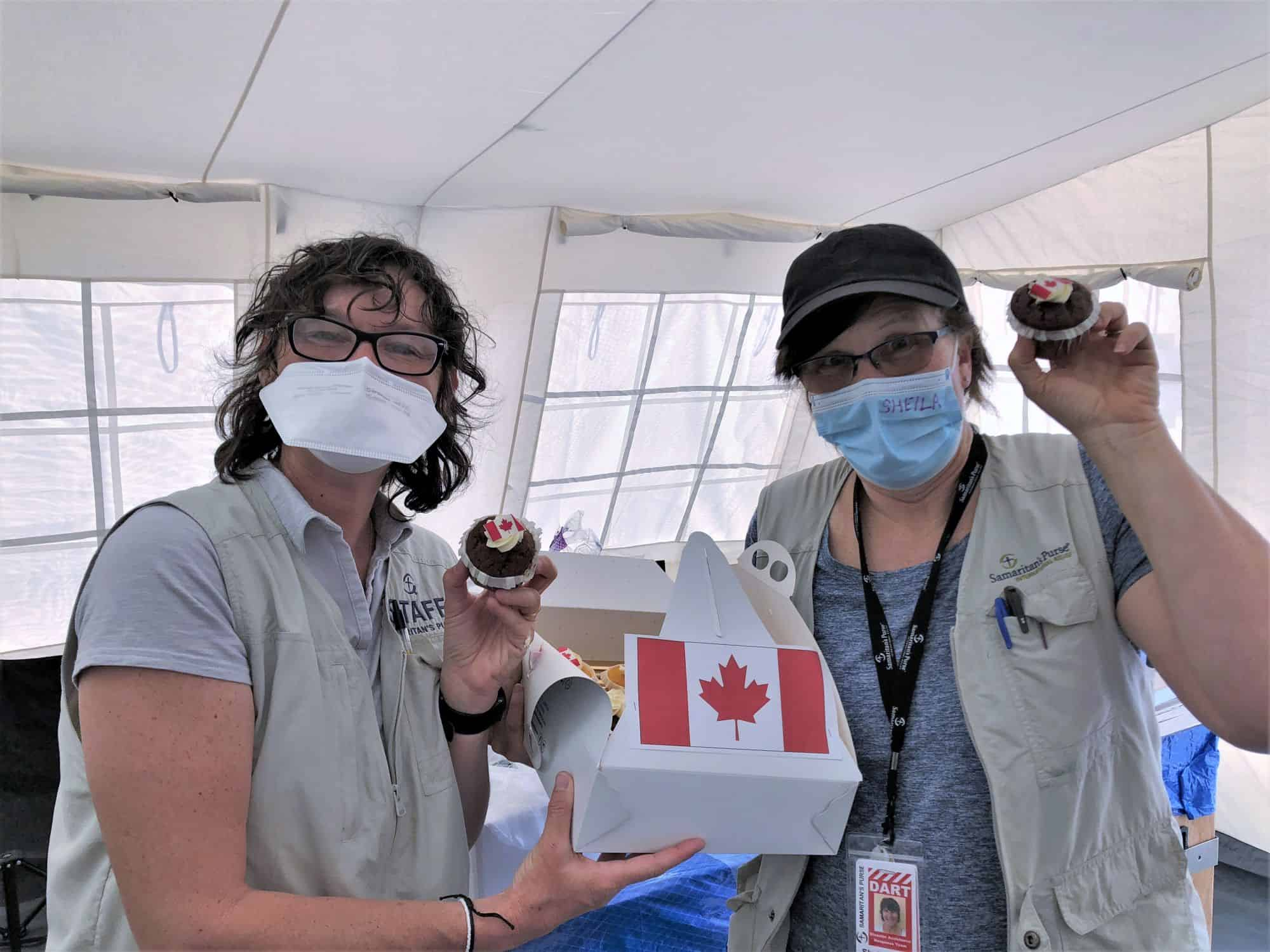 The Ambassador of Canada to Italy sent a special treat to our Canadian staff working at the Emergency Field Hospital in Italy. They loved them!