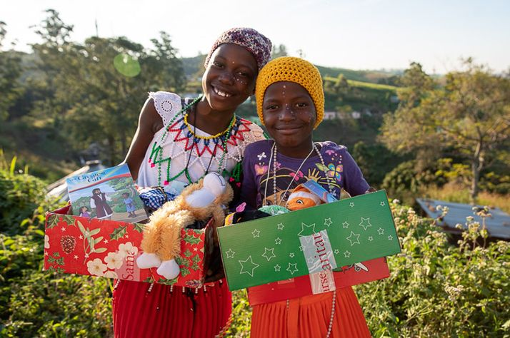 Children in and around Durban, South Africa, received Operation Christmas Child shoebox gifts earlier this year.